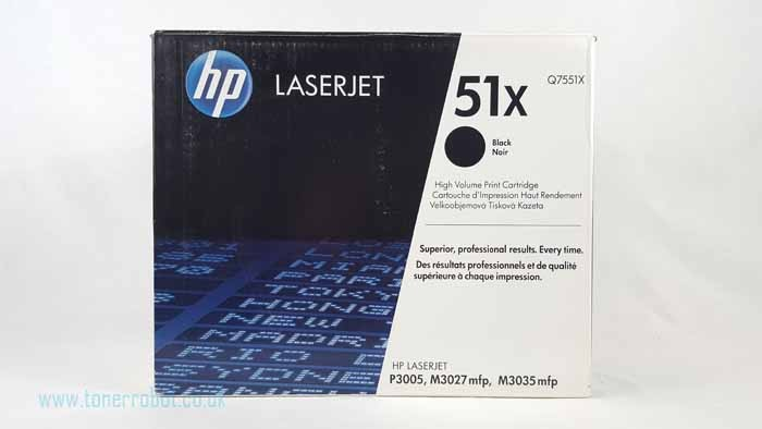 Genuine HP 51X High Capacity Black Toner Cartridge (Q7551X)