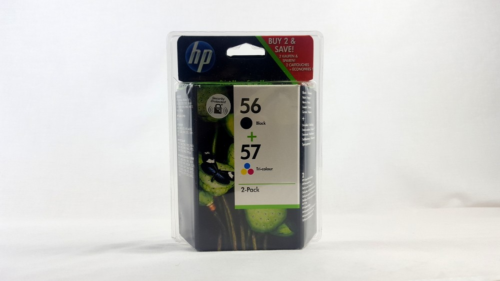 Genuine HP 56 Black/57 Tri-colour 2-pack Original Ink Cartridges (SA342AE)