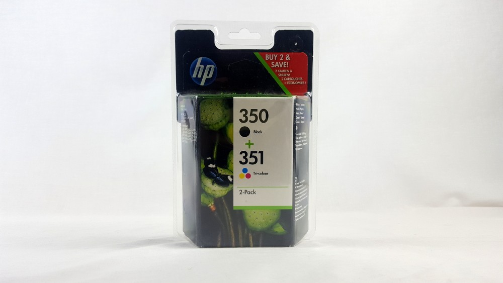 Genuine HP 350 Black/351 Tri-colour 2-pack Original Ink Cartridges (SD412EE)