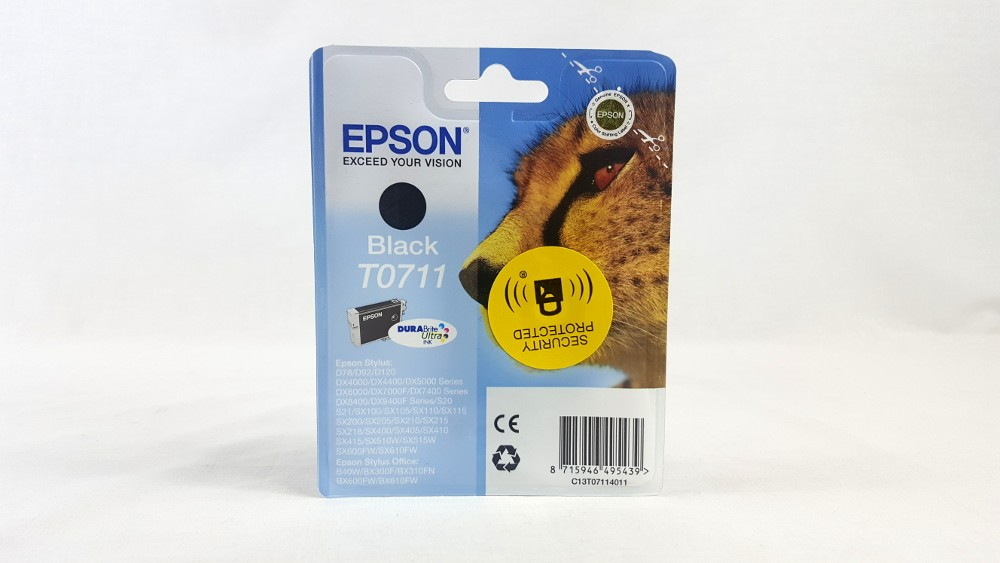 Genuine Epson Black T0711 DURABrite Ultra Ink Cartridge (C13T07114011)