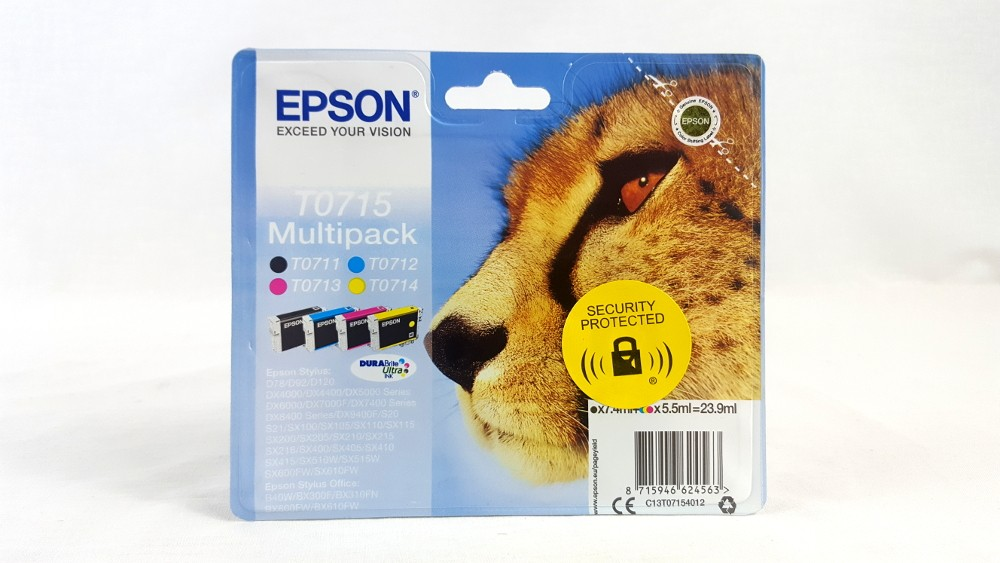 Genuine Epson Multipack 4-colours T0715 DURABright Ultra Ink Cartridges (C13T07154012)