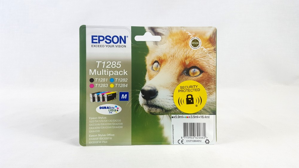 Genuine Epson Multipack 4-colours T1285 DURABrite Ultra Ink Cartridges (C13T12854012)