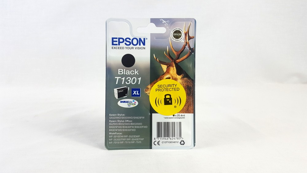 Genuine Epson Black XL T1301 DURABrite Ultra Ink Cartridge (C13T13014012)