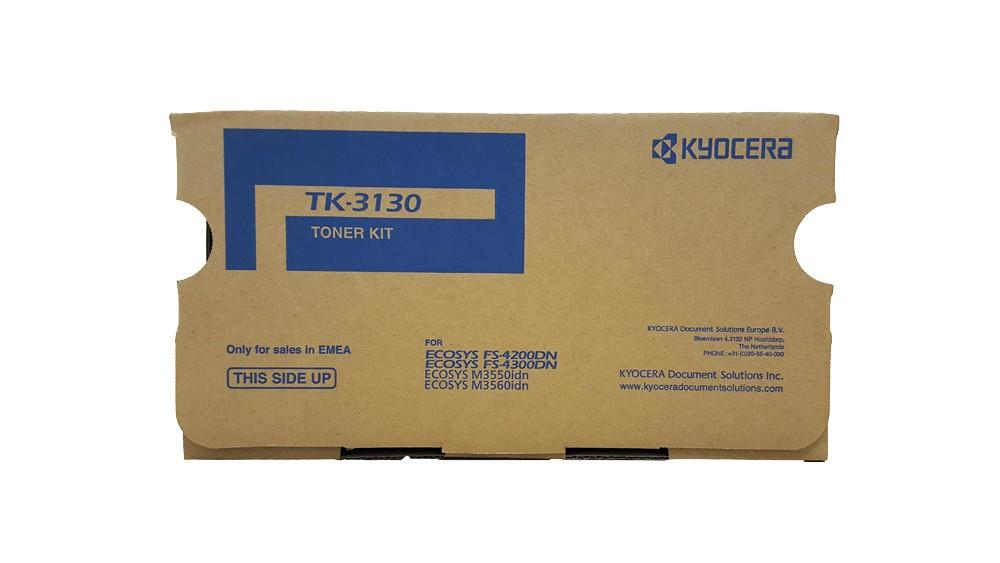 Genuine Black Kyocera TK-3130 Toner Cartridge - (TK3130)