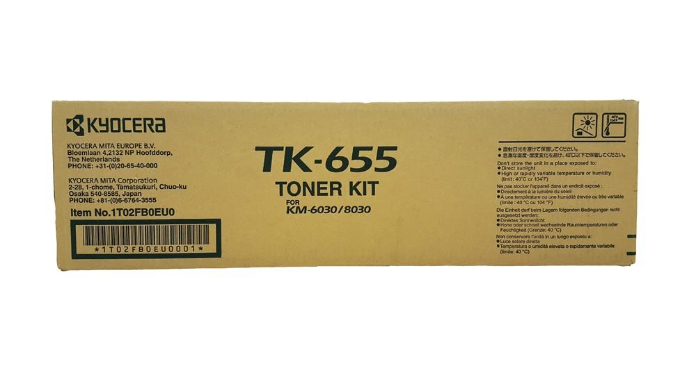 Genuine Black Kyocera Mita TK-655 Toner Kit (TK-655)