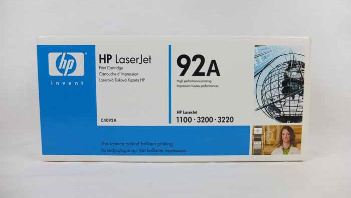 Genuine HP 92A Black Toner Cartridge (C4092A)