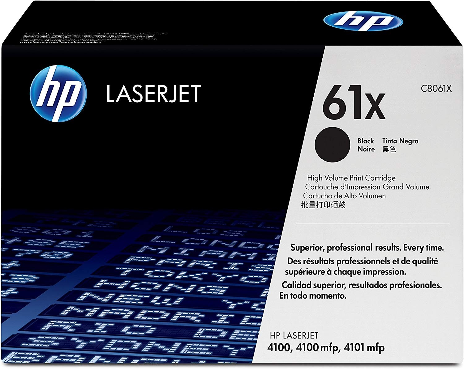 Genuine HP 61X High Capacity Black Toner Cartridge (C8061X)