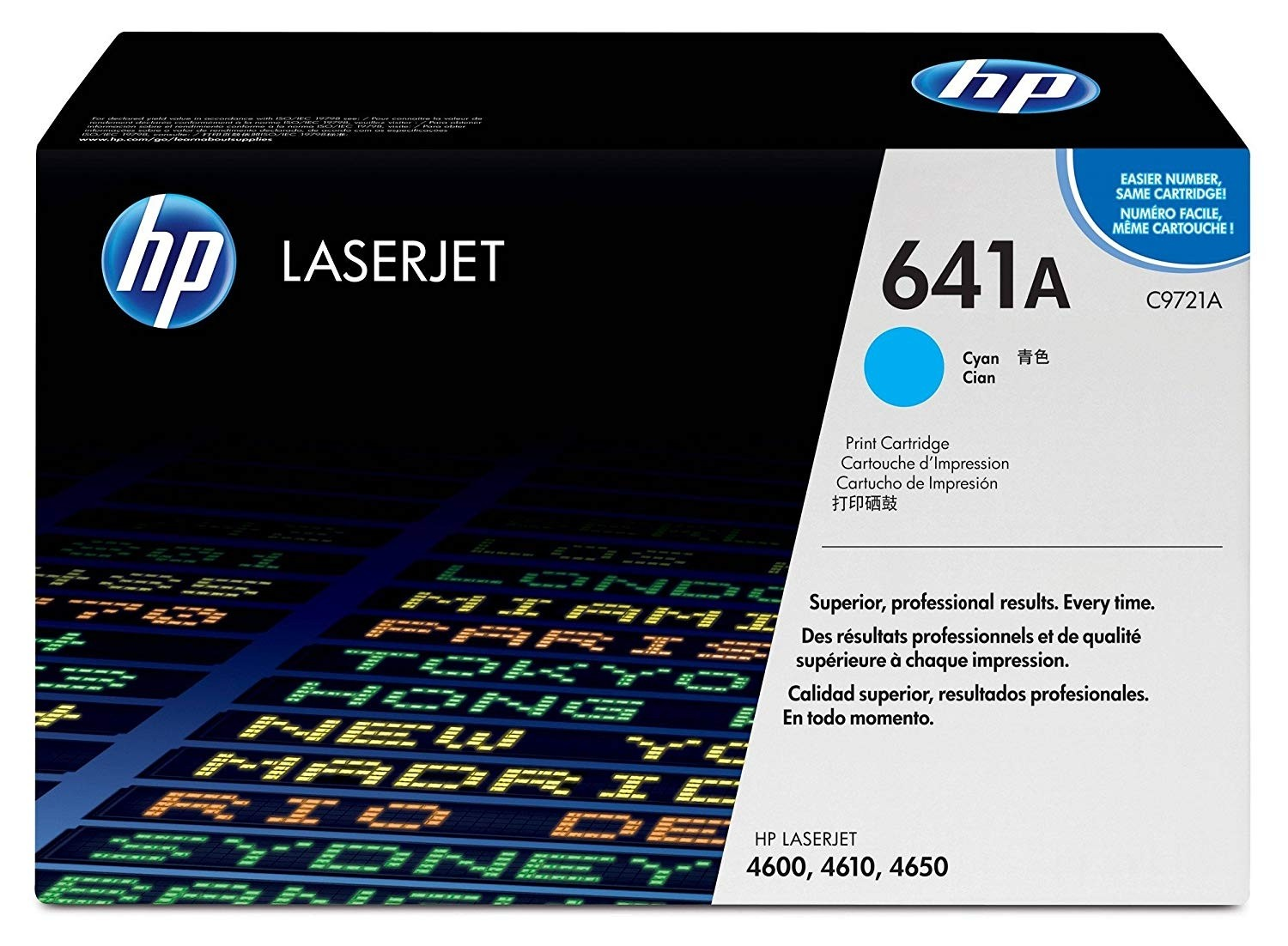 Genuine HP C9721A Cyan Toner Cartridge (C9721A)