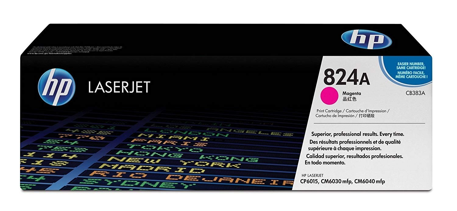 Genuine HP 824A Magenta Toner Cartridge (CB383A)