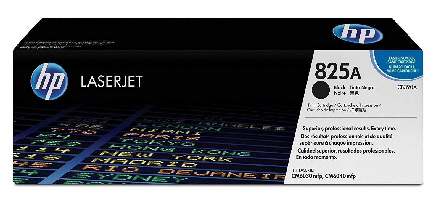 Genuine HP 824A Black Toner Cartridge (CB390A)