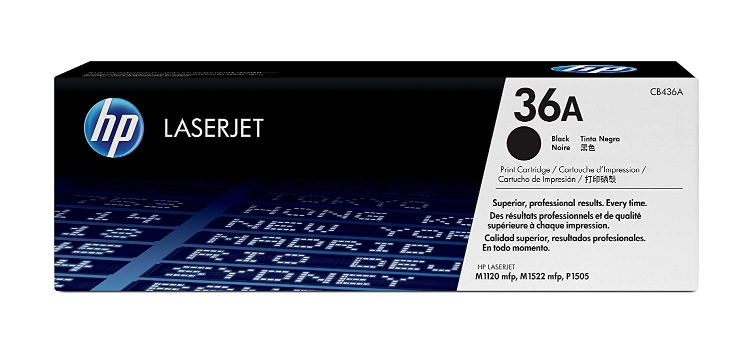 Genuine HP 36A Black Toner Cartridge (CB436A)