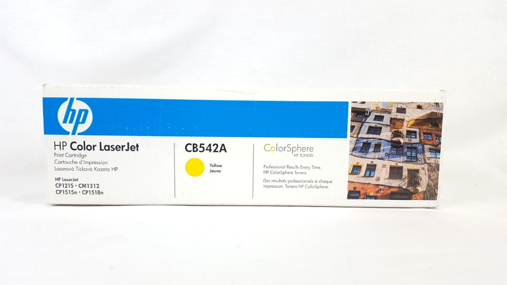 Genuine HP 125A Yellow Toner Cartridge (CB542A)