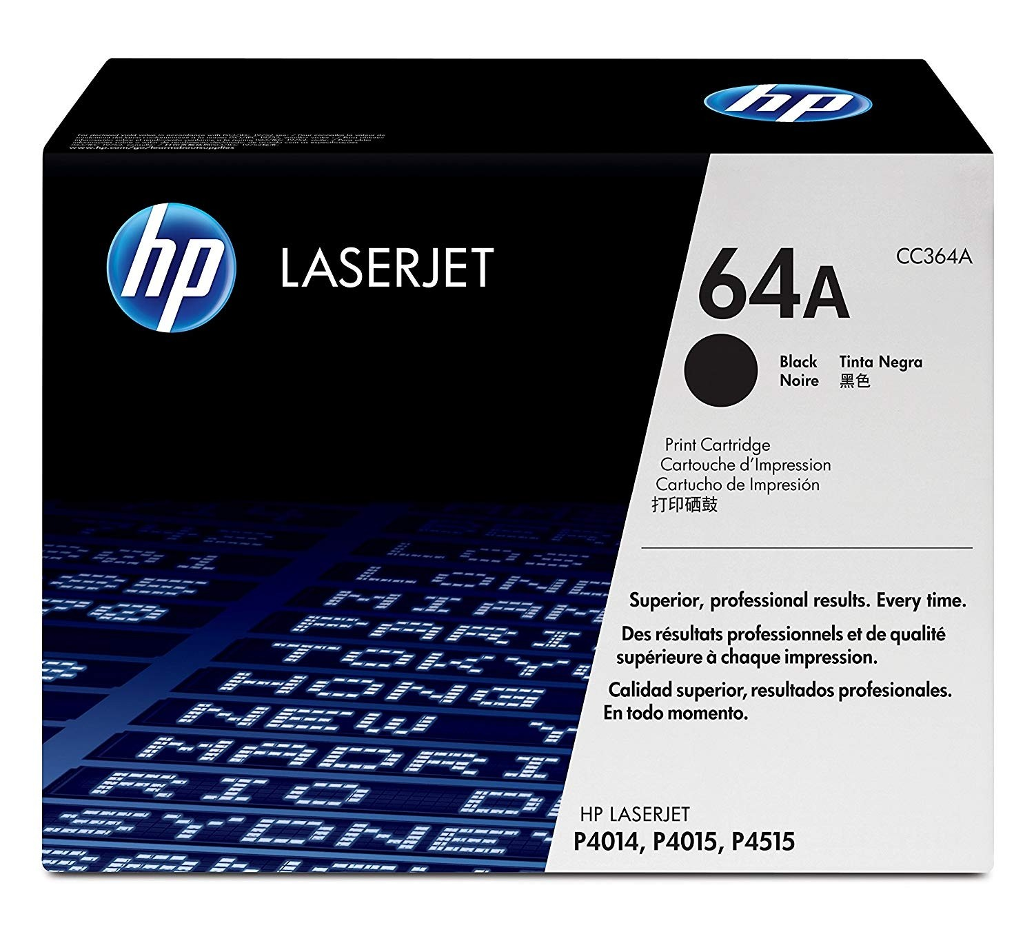 Genuine HP 64A Black Toner Cartridge (CC364A)