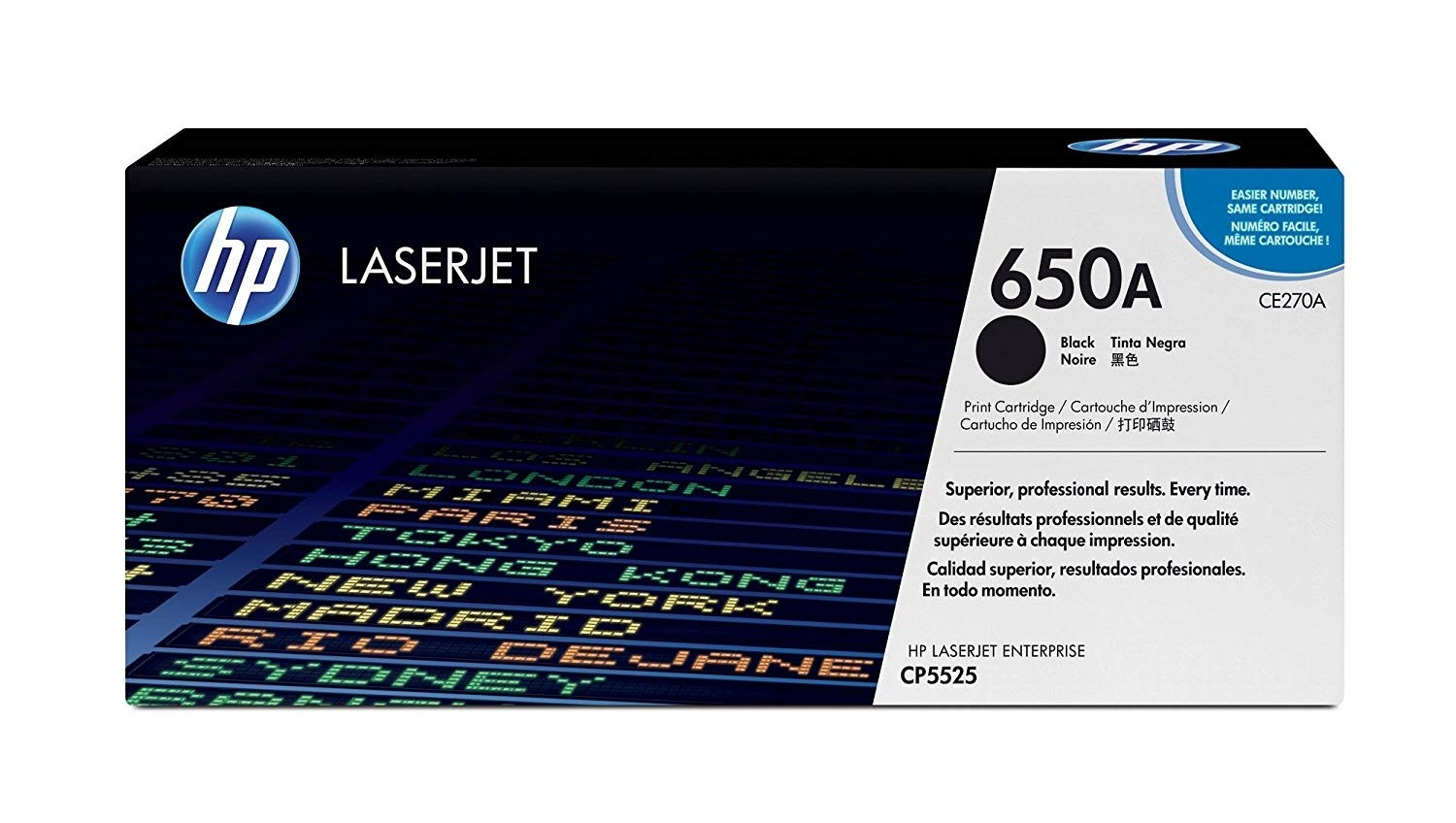 Genuine HP CE270A Black Toner Cartridge (CE270A)