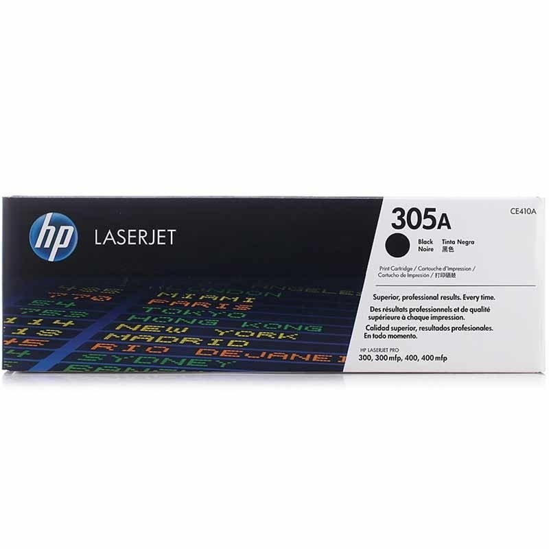 Genuine HP 305A Black Toner Cartridge (CE410A)