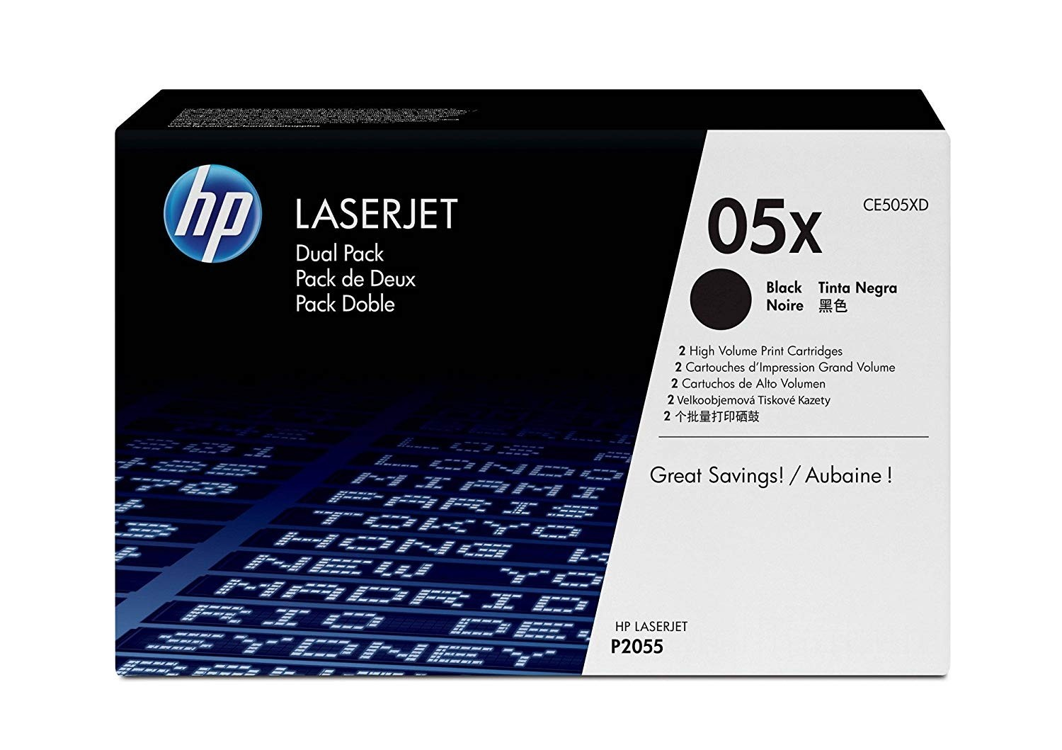 Genuine HP 05X Toner Dual Pack (CE505XD)