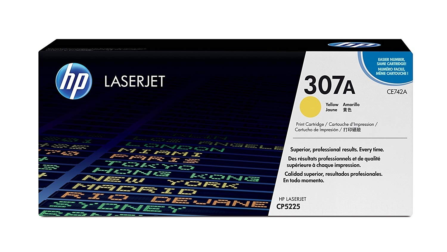 Genuine HP CE742A Yellow Toner Cartridge (CE742A)