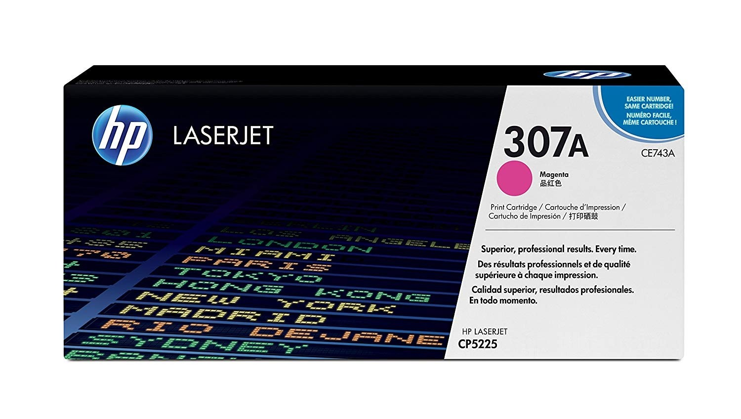 Genuine HP CE743A Magenta Toner Cartridge (CE743A)