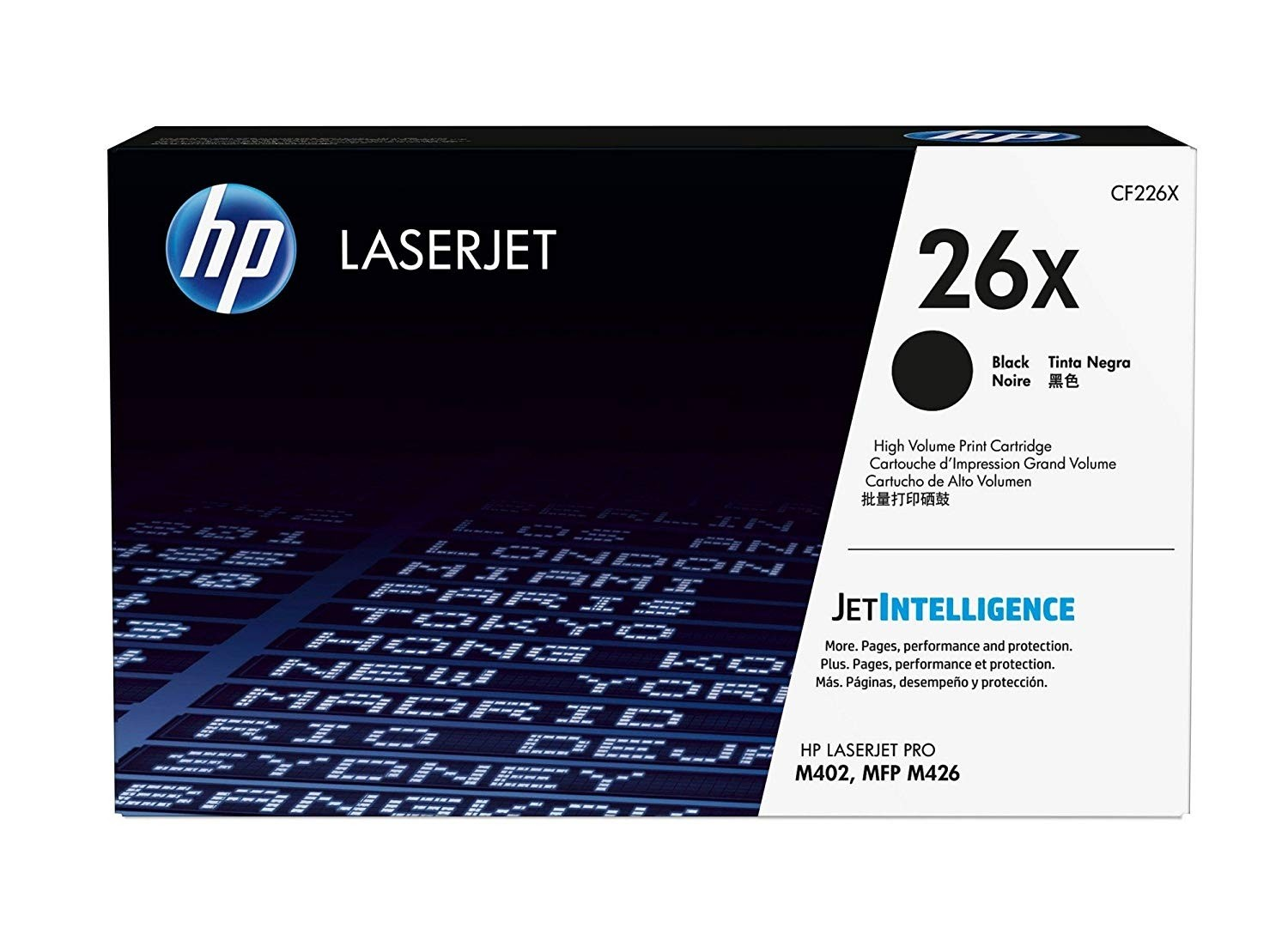 Genuine HP 26X High Yield Black Original LaserJet Toner Cartridge (CF226X)
