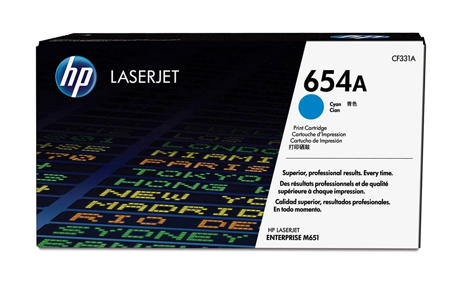 Genuine HP 654A Cyan Original LaserJet Toner Cartridge (CF331A)