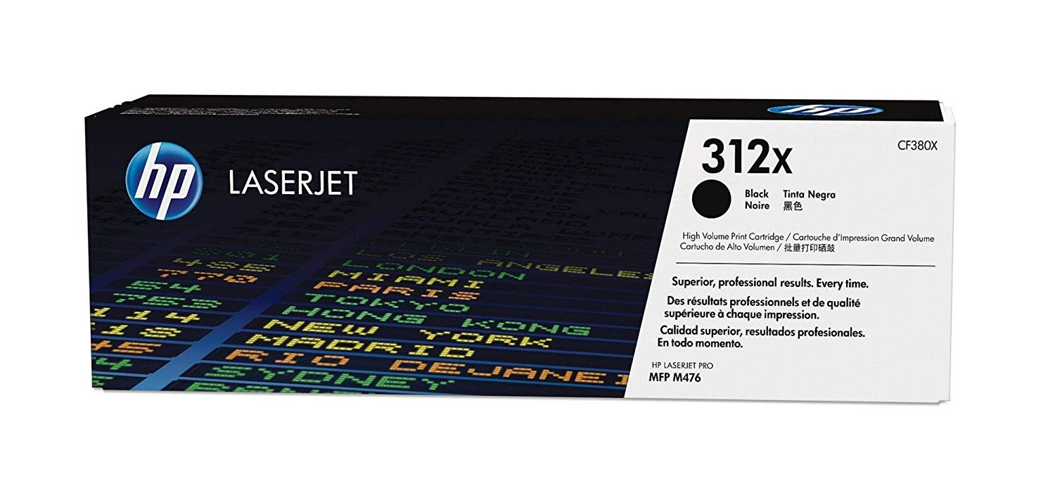 Genuine HP 312X High Yield Black Original LaserJet Toner Cartridge (CF380X)