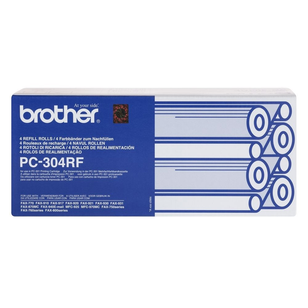 Genuine Brother PC304RF Thermal Ribbon Refill Pack of 4 (PC-304RF)