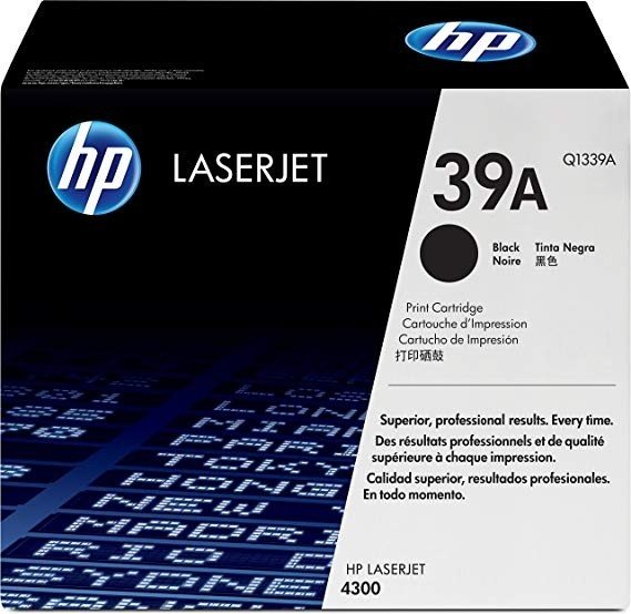 Genuine HP 39A Black Toner Cartridge (Q1339A)