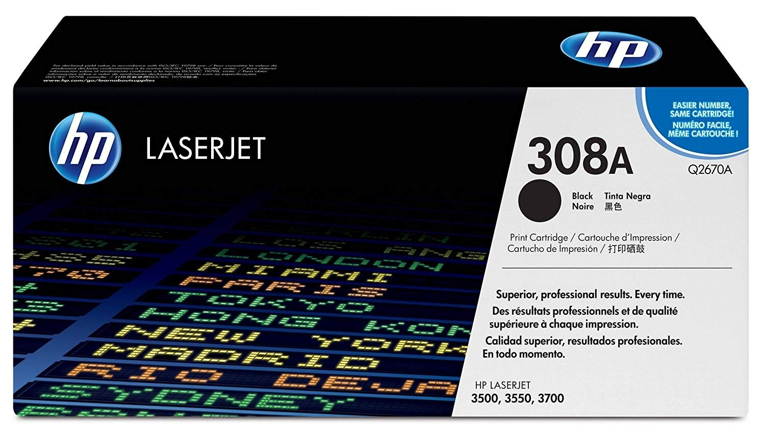 Genuine HP Q2670A Black Toner Cartridge (Q2670A)