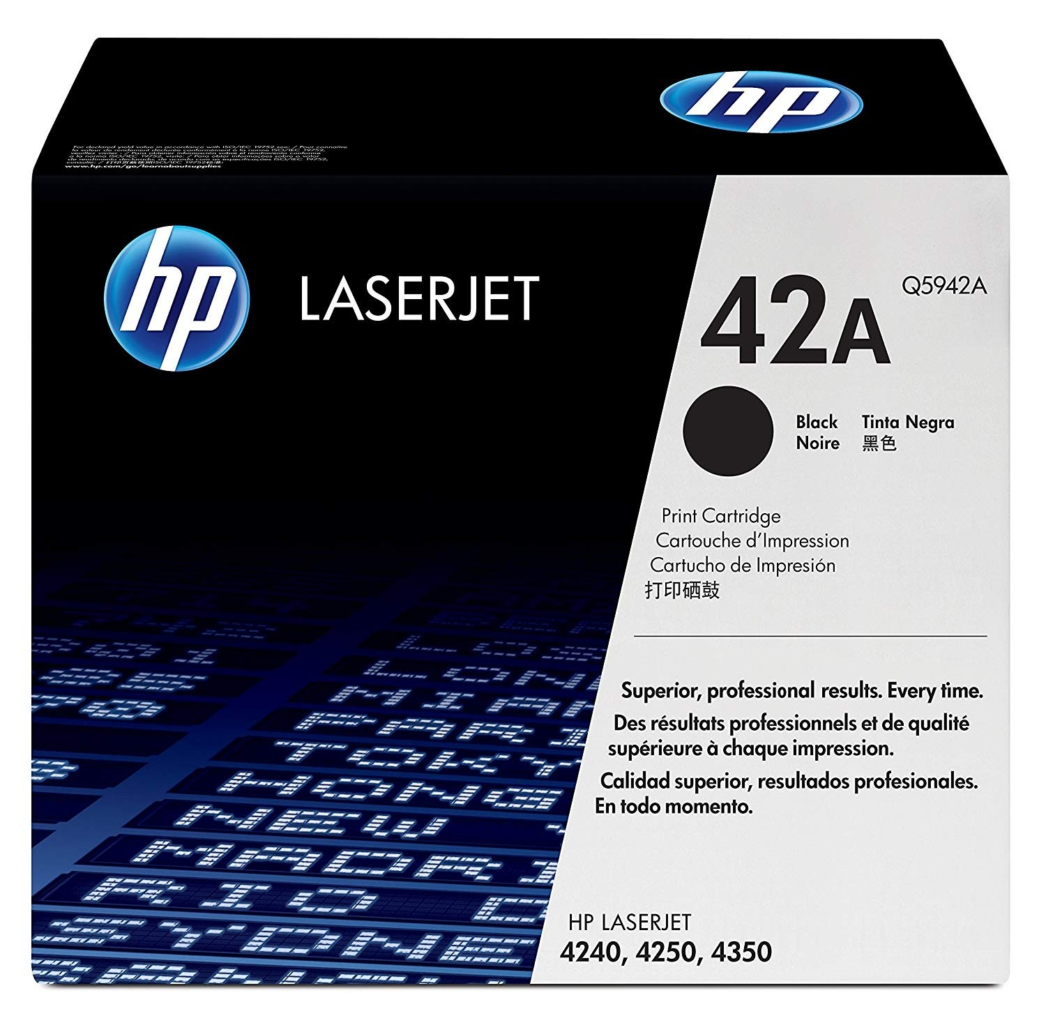 Genuine HP 42A Black Toner Cartridge (Q5942A)