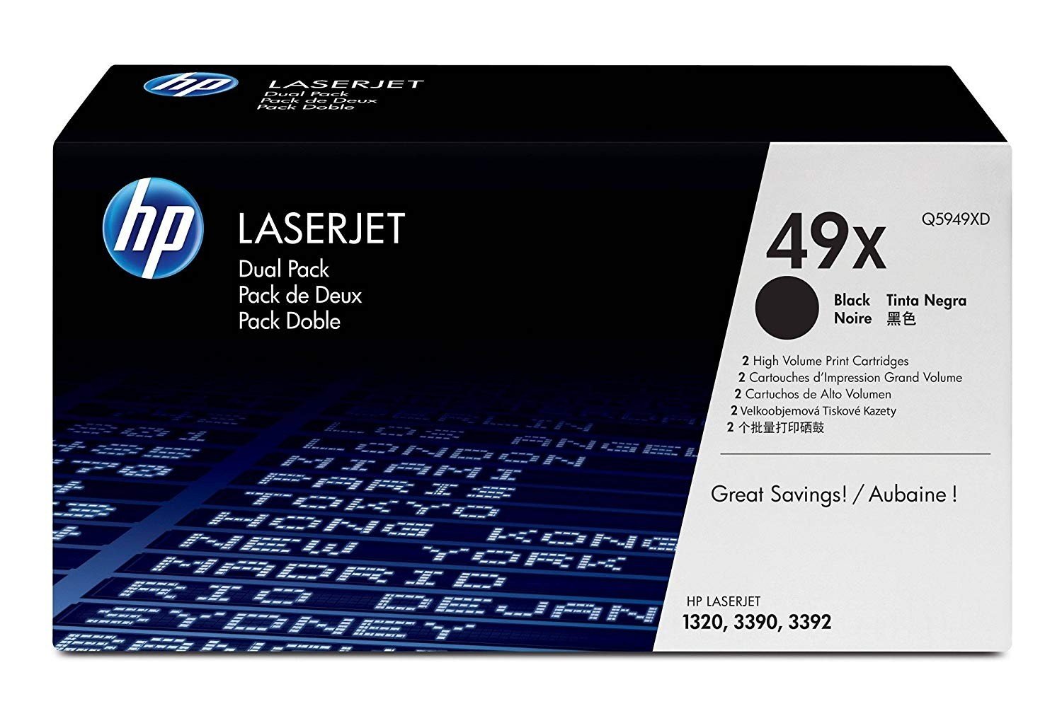 Genuine HP 49X Toner Dual Pack (Q5949XD)