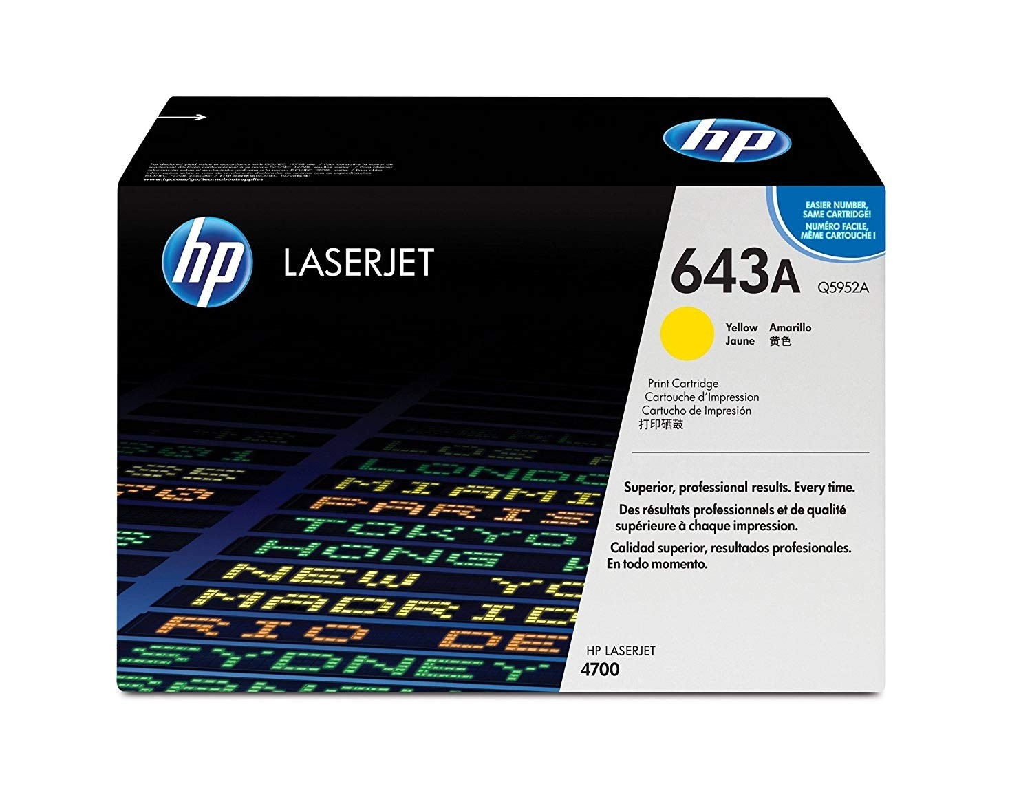 Genuine HP Q5952A Yellow Toner Cartridge (Q5952A)