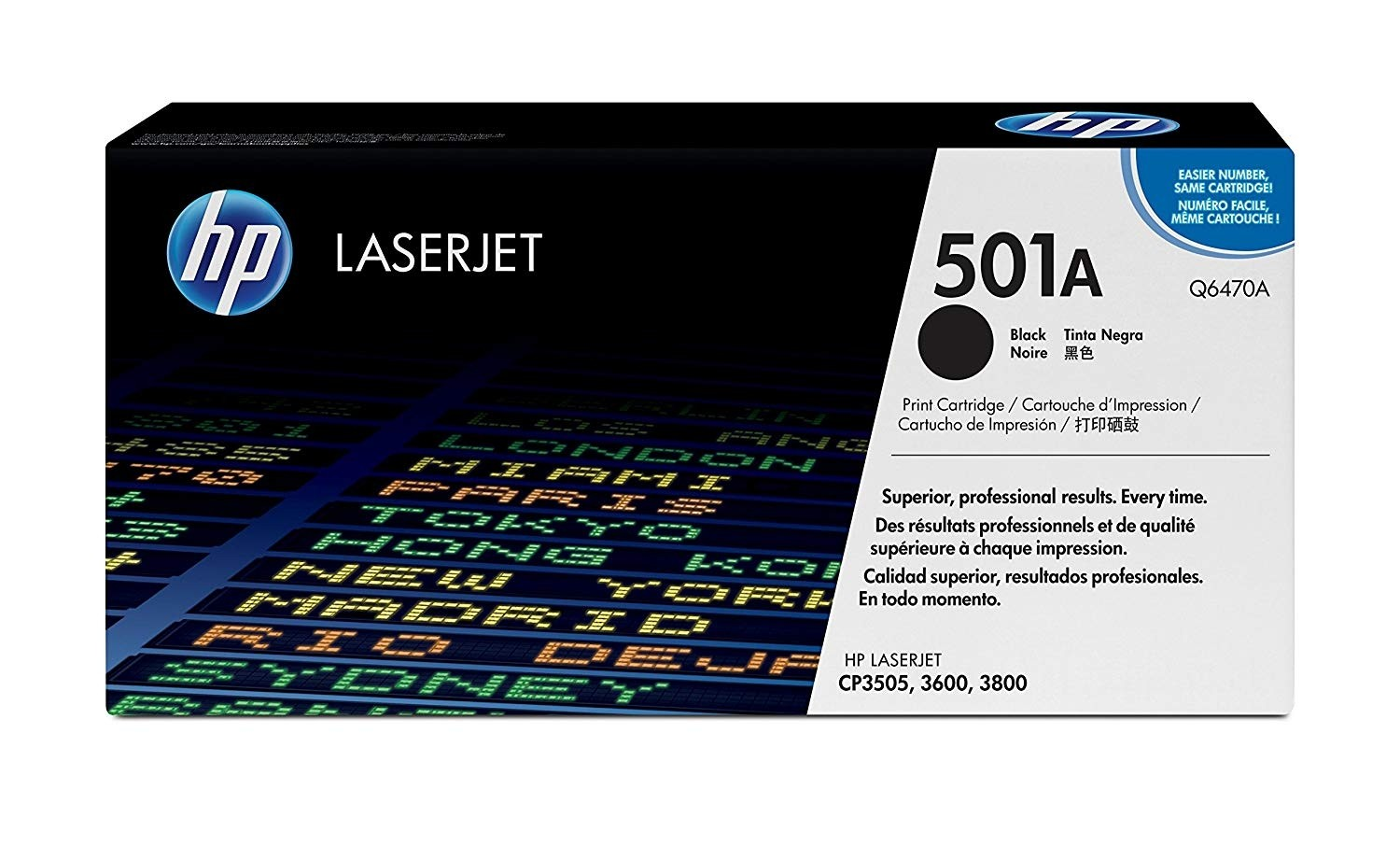 Genuine HP Q6470A Black Toner Cartridge (Q6470A)