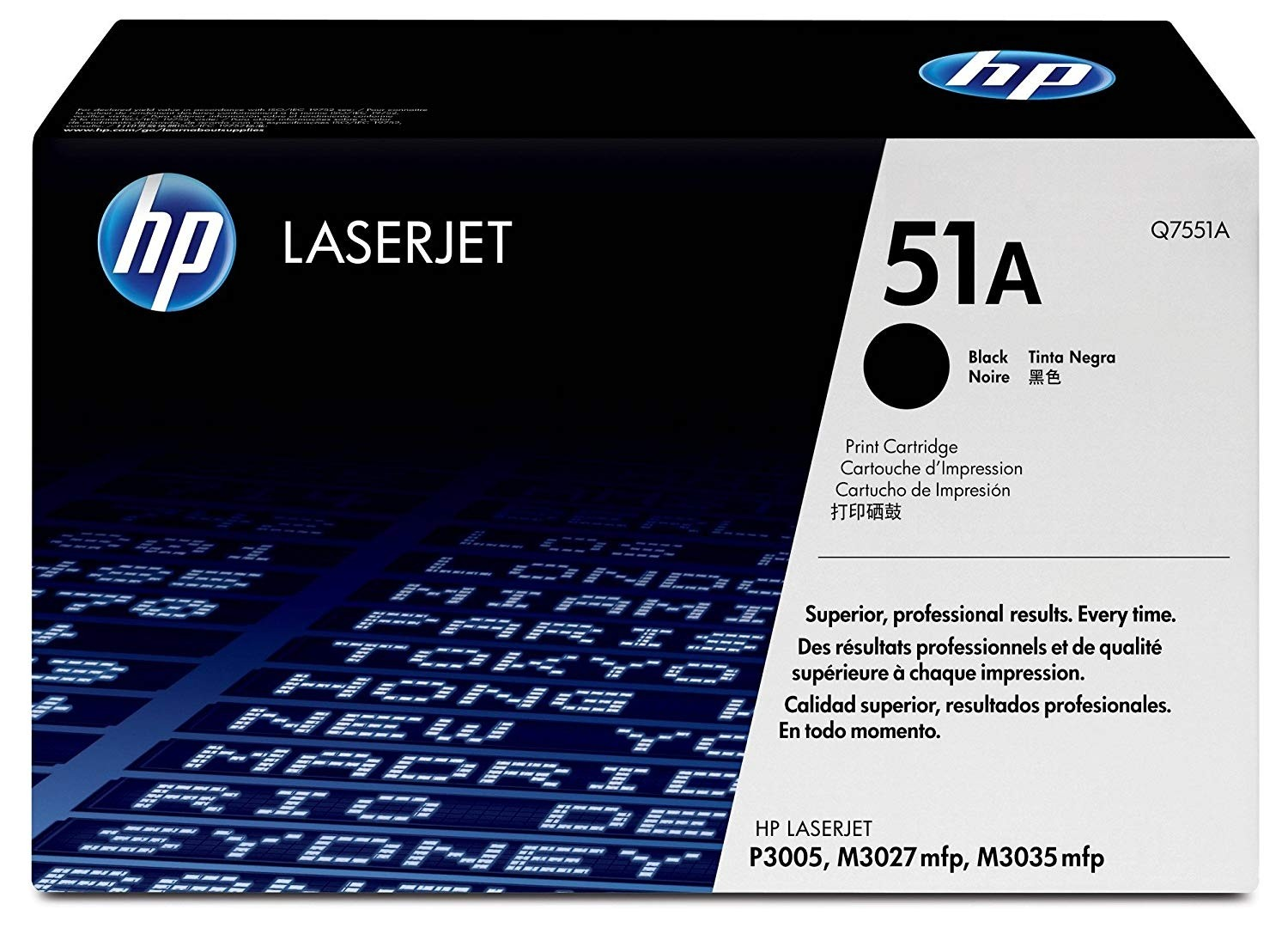 Genuine HP 51A Black Toner Cartridge (Q7551A)