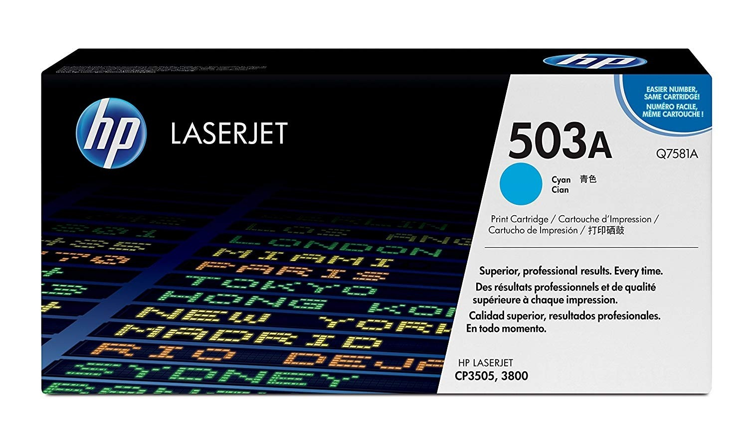 Genuine HP Q7581A Cyan Toner Cartridge (Q7581A)